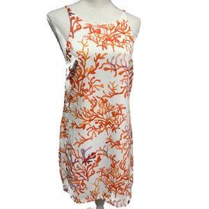 COOPER & ELLA Coral Halter Dress white Orange S